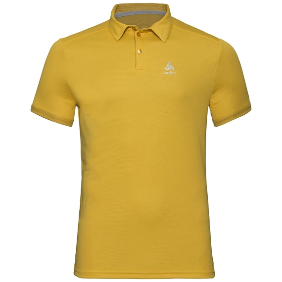 F-DRY Poloshirt, lemon curry, large