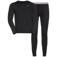 Ensemble de sous-vêtements techniques longs NATURAL 100% MERINO WARM pour homme, black - black, large