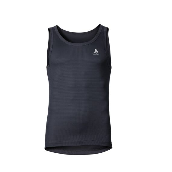 Singlet CUBIC, ebony grey - black, large