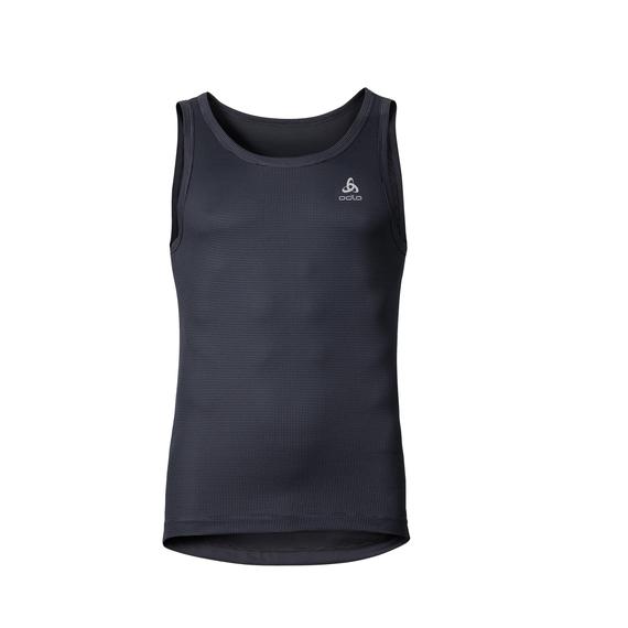 Singlet CUBIC, ebony grey - black, large
