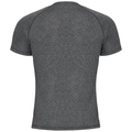 T-shirt s/s AION, black melange - placed print SS18, large