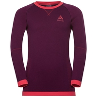 Maglia Base Layer a manica lunga PERFORMANCE WARM KIDS per bambini, pickled beet - hibiscus, large