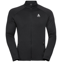Midlayer full zip SNOWBIRD CITY, black - SWISS flag, large