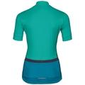 FUJIN cycling jersey women, pool green - crystal teal, large