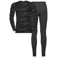 Set Warm GOD JUL, odlo graphite grey - black, large