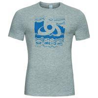 T-shirt s/s crew neck SIGNO, grey melange with print FW17 (2), large