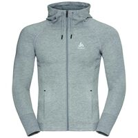 Hoody midlayer full zip TECHSTYLE, grey melange, large