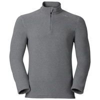 Midlayer con 1/2 zip LE TOUR da uomo, grey melange, large