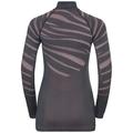 Women's BLACKCOMB 1/2 Zip Turtle-Neck Long-Sleeve Base Layer Top, odyssey gray - mesa rose, large