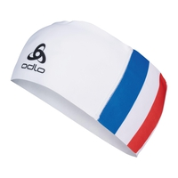 COMPETITION FAN WARM Headband, France Fan White, large