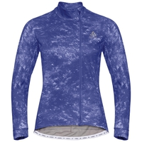 Damen ZEROWEIGHT CERAMIWARM Radsport Midlayer, clematis blue - AOP FW19, large