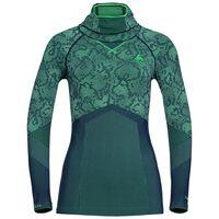 Shirt l/s with Facemask Blackcomb EVOLUTION WARM, peacoat - mint leaf - mint leaf, large