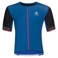 Shirt s/s full zip CERAMICOOL X-LIGHT, energy blue - black, large