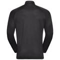 FLI Midlayer, black - odlo graphite grey - stripes, large