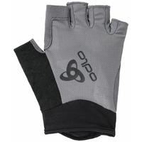 Korte ACTIVE-wielrenhandschoenen, odlo steel grey, large