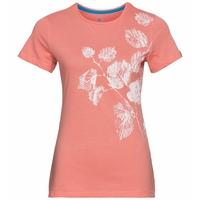 Women's KUMANO PRINT T-Shirt, lantana - flower leaf print SS20, large