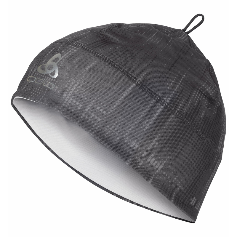 POLYKNIT WARM KIDS Hat, odlo graphite grey - graphic FW20, large