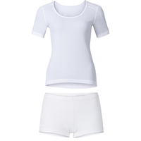 CUBIC Baselayer-Set Damen, white - snow white, large