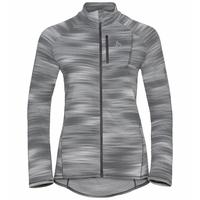 FLI LIGHT-tussenlaag met print en volledige rits voor dames, odlo silver grey - graphic SS21, large