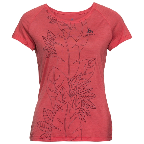 BL TOP CONCORD, chrysanthemum - flower leaf print SS19, large