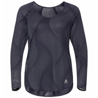 Women's MAHA Long-Sleeve Top, odyssey gray - AOP SS20, large