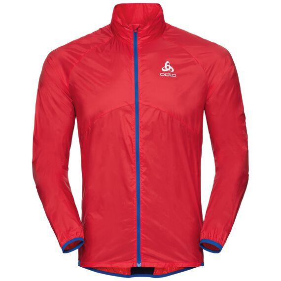 Jacket OMNIUS Light, fiery red - energy blue, large
