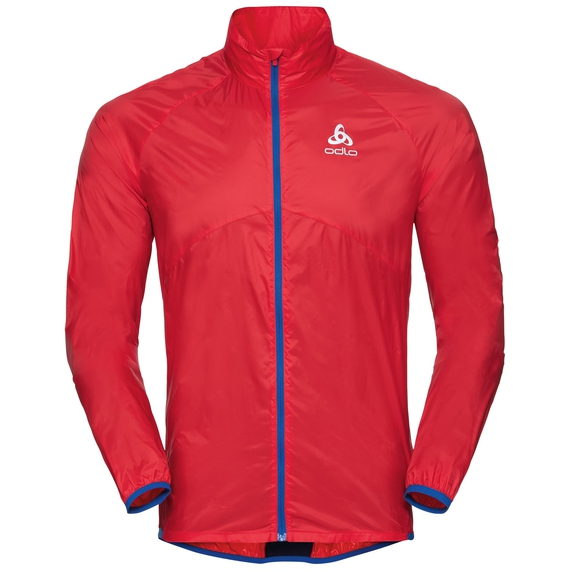 Men's OMNIUS LIGHT Jacket, fiery red - energy blue, large
