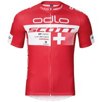 Stand-up collar s/s full zip SCOTT SRAM RACING TEAM  REPLICA, Scott Odlo Suisse 2016, large