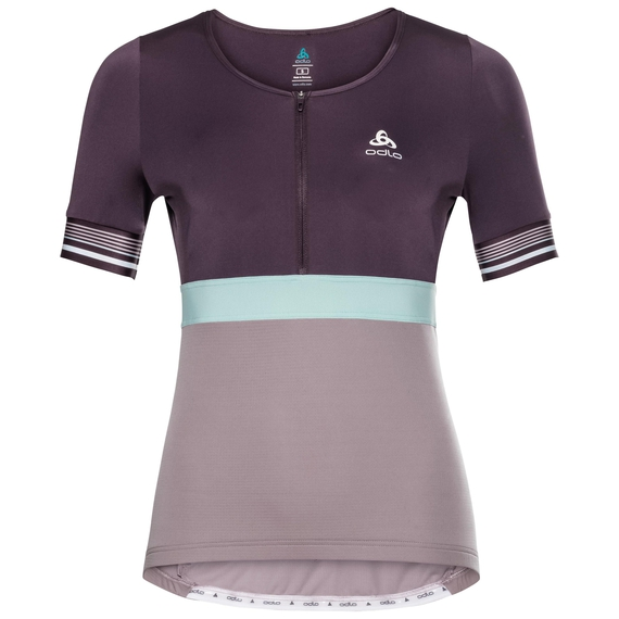 Shirt ZEROWEIGHT CERAMICOOL PRO, plum perfect - quail - surf spray, large