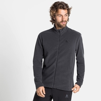 Men's ROY Full-Zip Midlayer Top, shale grey - black stripes, large