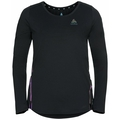 Damen ZEROWEIGHT CHILL-TEC BLACKPACK Langarm-Laufshirt, black - blackpack, large