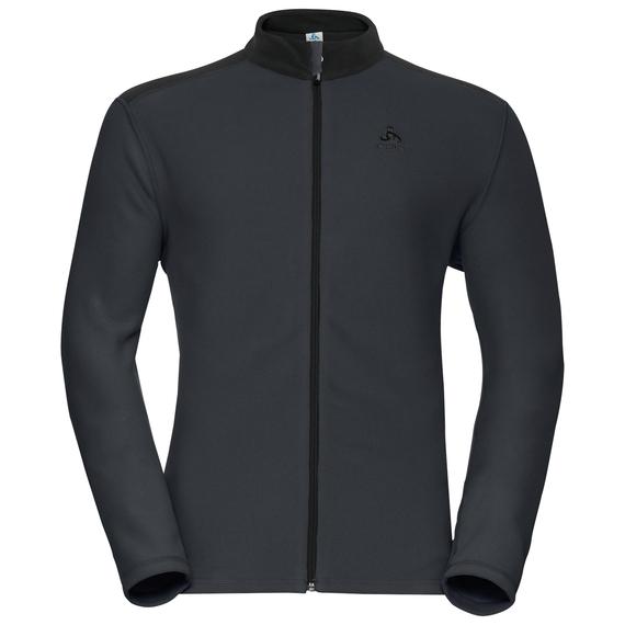 LE TOUR Midlayer mit durchgehendem Reißverschluss, odlo graphite grey - black, large