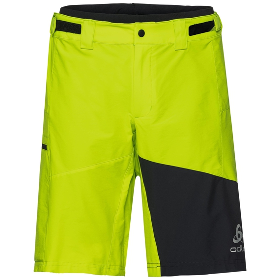 Shorts MORZINE, acid lime - black, large