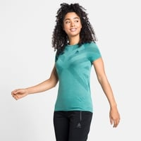 Women's KINSHIP LIGHT Base Layer T-Shirt, jaded melange, large