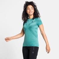 Damen KINSHIP LIGHT Baselayer T-Shirt, jaded melange, large