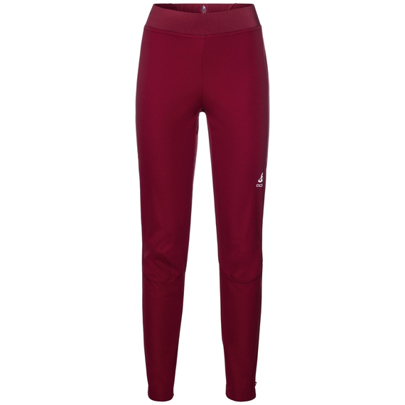 Pantalon aeolus Warm, rumba red, large