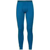 Men's NATURAL 100% MERINO WARM Base Layer Pants, mykonos blue, large
