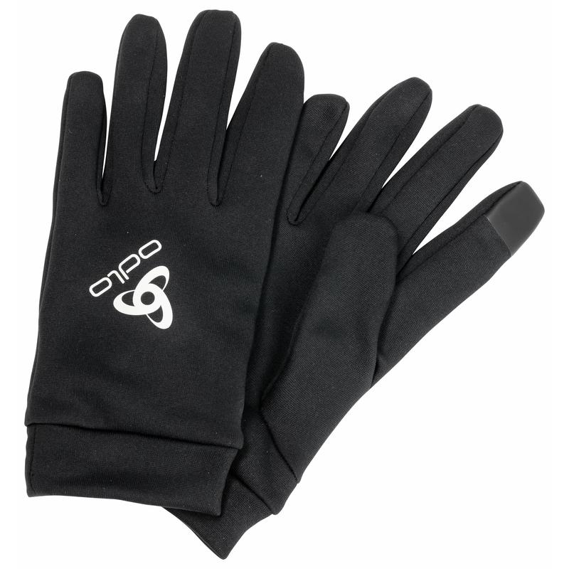 Stretchfleece Liner ECO E-Tip Handschuhe, black, large