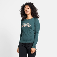 Women's CONCORD Long-Sleeve T-Shirt, balsam - odlo graphic SS21, large