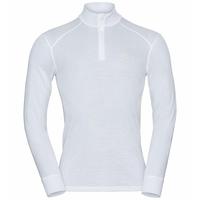 Men's ACTIVE WARM ECO Half-Zip Turtleneck Baselayer Top, white, large