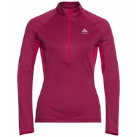 Women's ZEROWEIGHT CERAMIWARM 1/2 Zip Midlayer, cerise, large