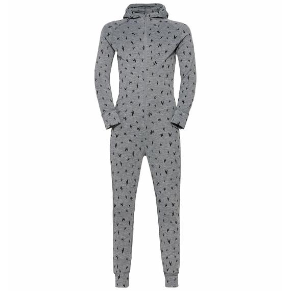 ACTIVE WARM ECO KIDS One-Piece Baselayer Suit, grey melange - graphic FW20, large