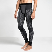 Men's BLACKCOMB Base Layer Pants, black - odlo steel grey - silver, large