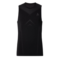 EVOLUTION LIGHT baselayer singlet men, black - odlo graphite grey, large