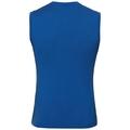 SUW TOP NATURAL 100 % MERINO WARM Unterhemd mit Rundhalsausschnitt, energy blue - grey melange, large