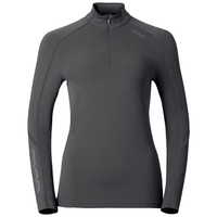 Sillian met halve rits, odlo graphite grey, large