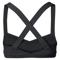 MEDIUM Crossback sports bra, black, large