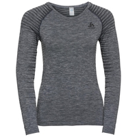 Women's PERFORMANCE LIGHT Long-Sleeve Base Layer Top, grey melange, large