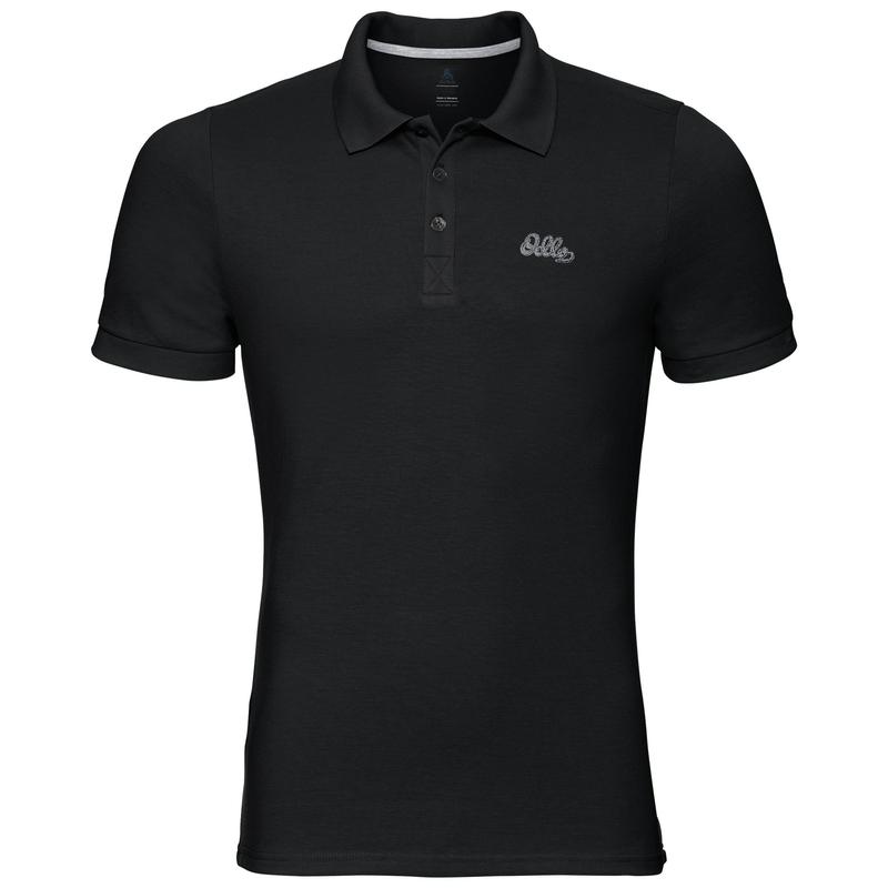 TRIM polo shirt, black, large