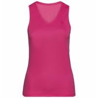 Naadloze onderkleding Singlet met V-hals ACTIVE F-DRY LIGHT, beetroot purple, large